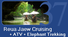 Reua Jaew Cruising and Safari ATV and Elephant Trekking