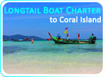 Longtail Boat Charter to Coral Island