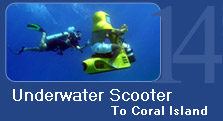 Underwater Scooter to Coral Island
